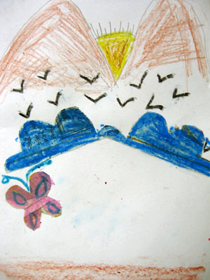 Drawing by Likitha, a boy child affected by HIV