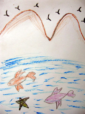Drawing by Chandana, a girl child affected by HIV