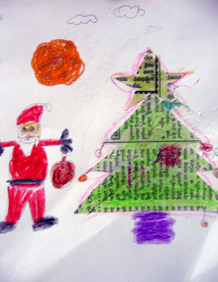 Drawing by Bikshapati, a boy child affected by HIV