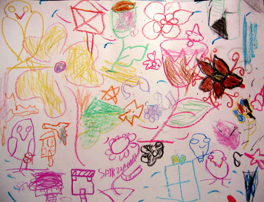 Drawing for Roxy, by the children at Freedom Foundation