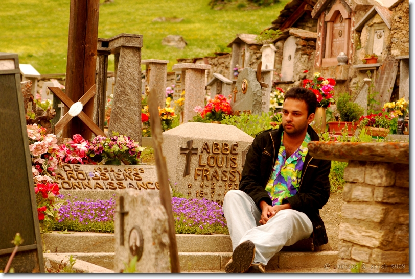 Cemetery at the Alps: at Valsavarenche, Aosta, Italy