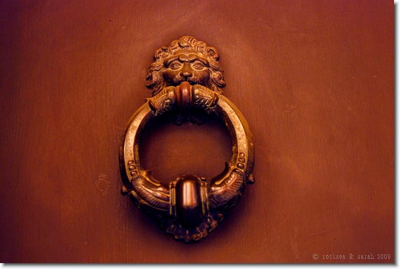 door knob, bologna, italy