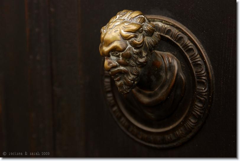 door knob, padova, italy