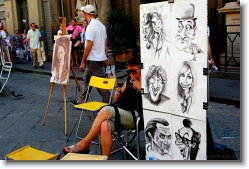 caricature at florence, italy
