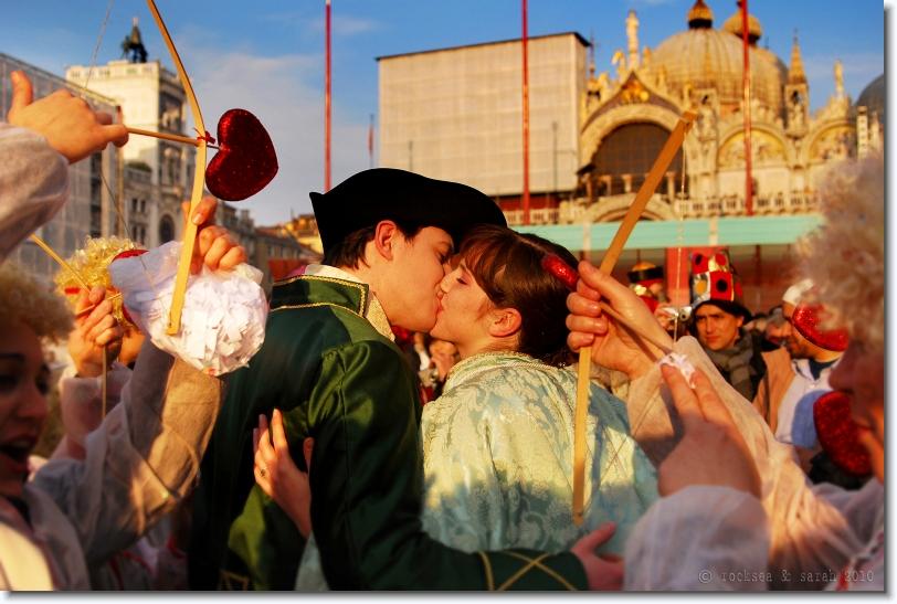 valentines at piazza san marco, venezia carnival