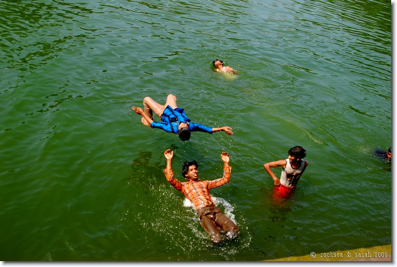 Diving Acrobatics at Kuttichira Tank, Kozhikode