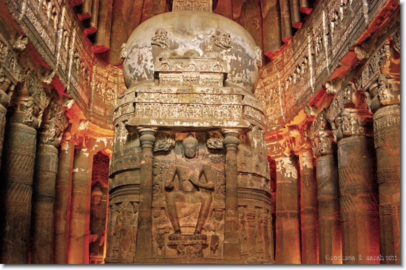 chaitya hall, ajanta caves number 26